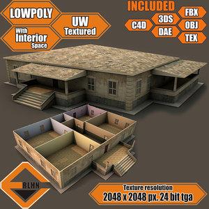 house interior building obj