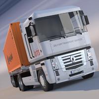 Renault Magnum Container Semi Truck