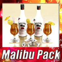 malibu bottle cocktail shot s