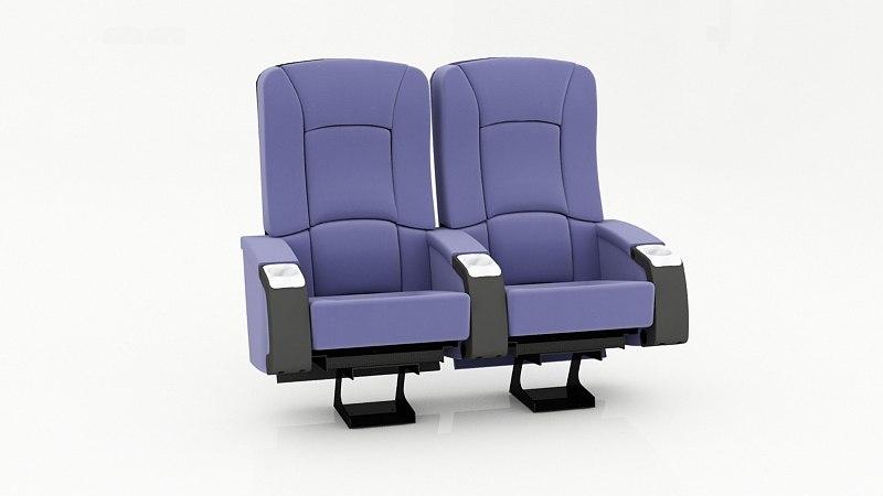 3d seats auditorium theater model