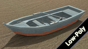 free 3ds mode rowboat boat
