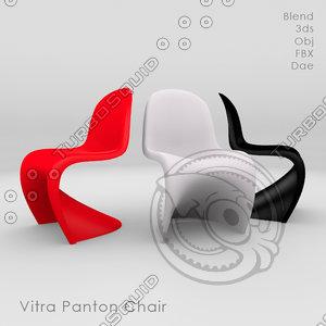 popular interior design glass chair 3d ma