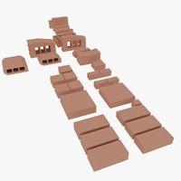 klinker bricks 3d model