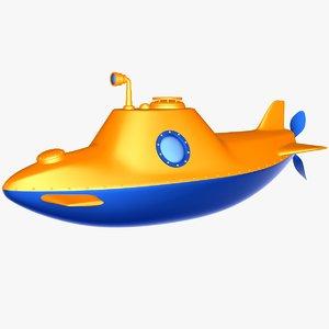 3d cartoon submarine