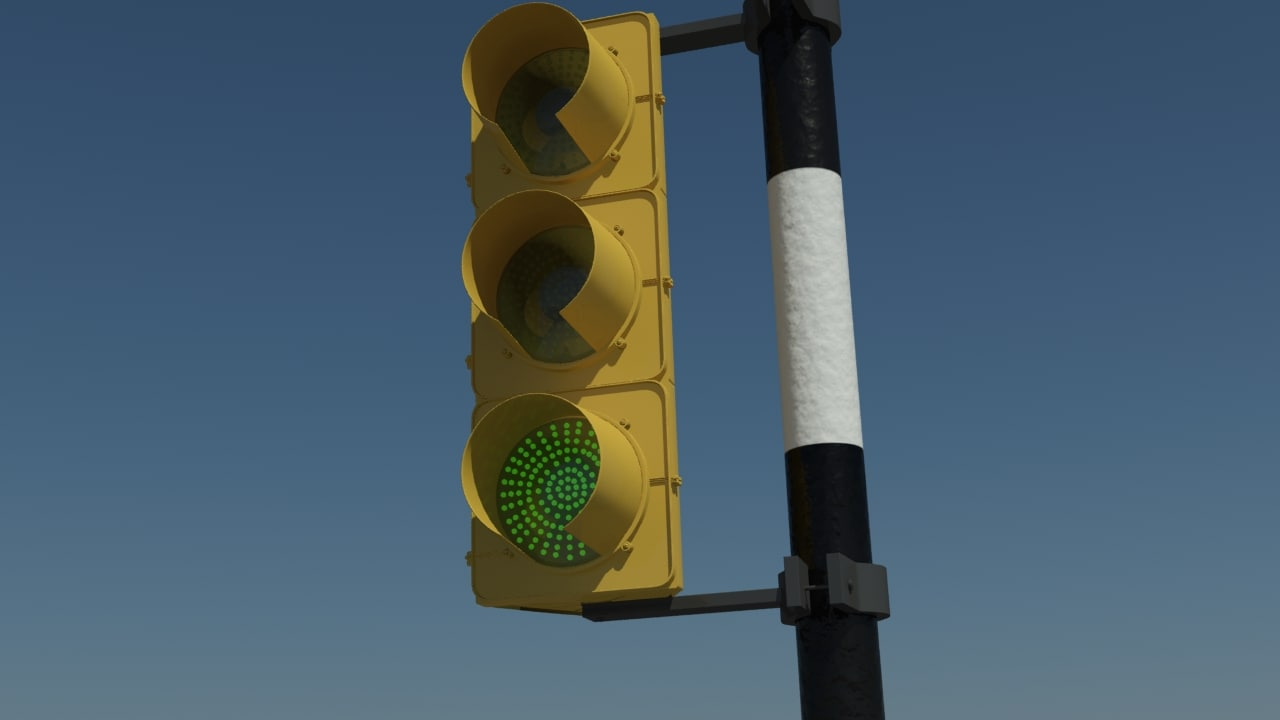 max realistic traffic light