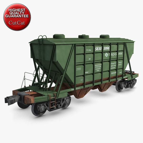 3d hopper wagon model