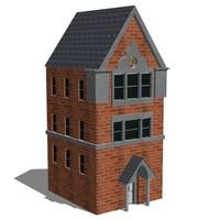 3d victorian apartment building