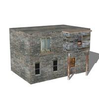 3d victorian slums model