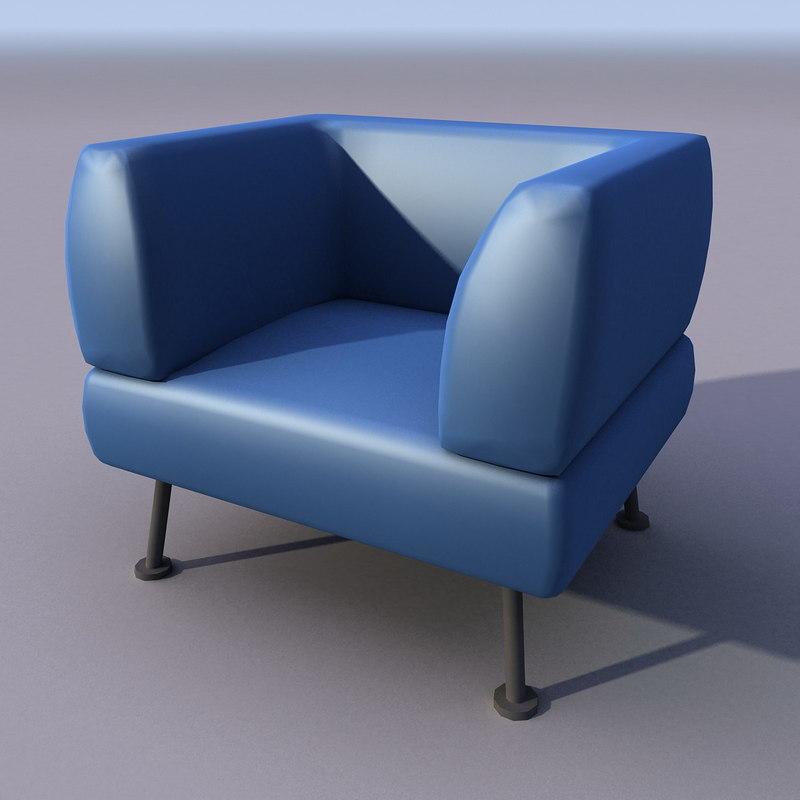 3ds sofa armchair