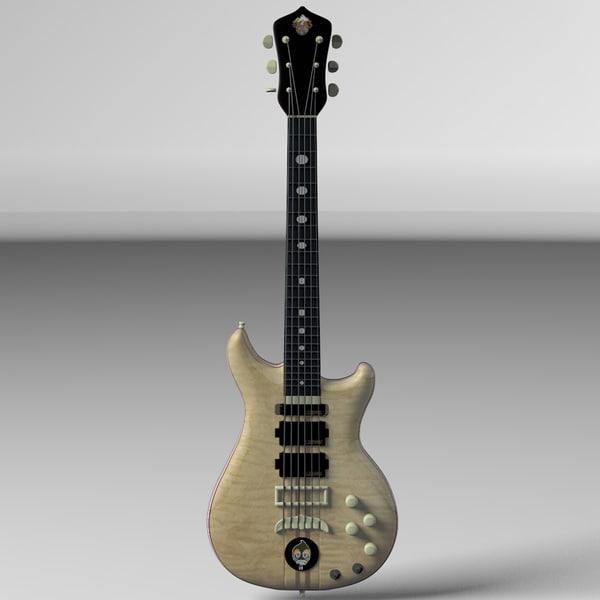 alembic guitar 3d c4d