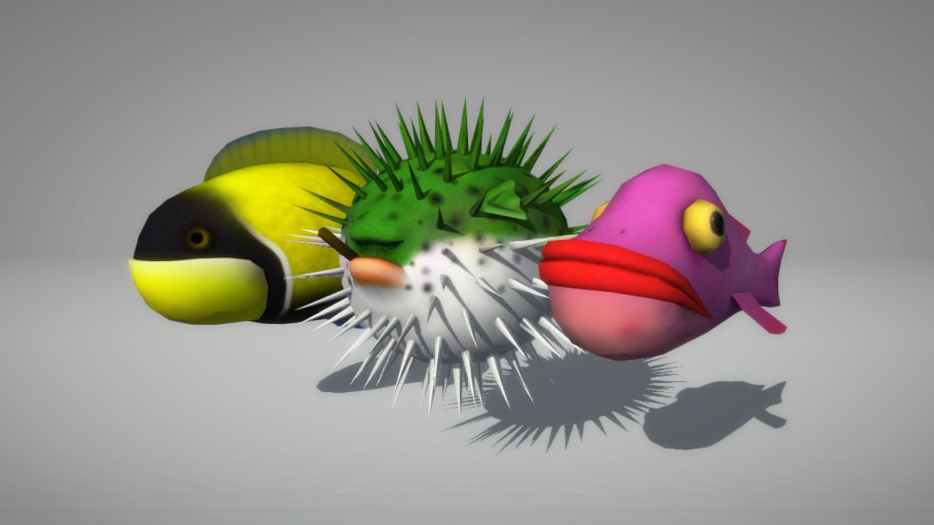 cartoon fishes fbx