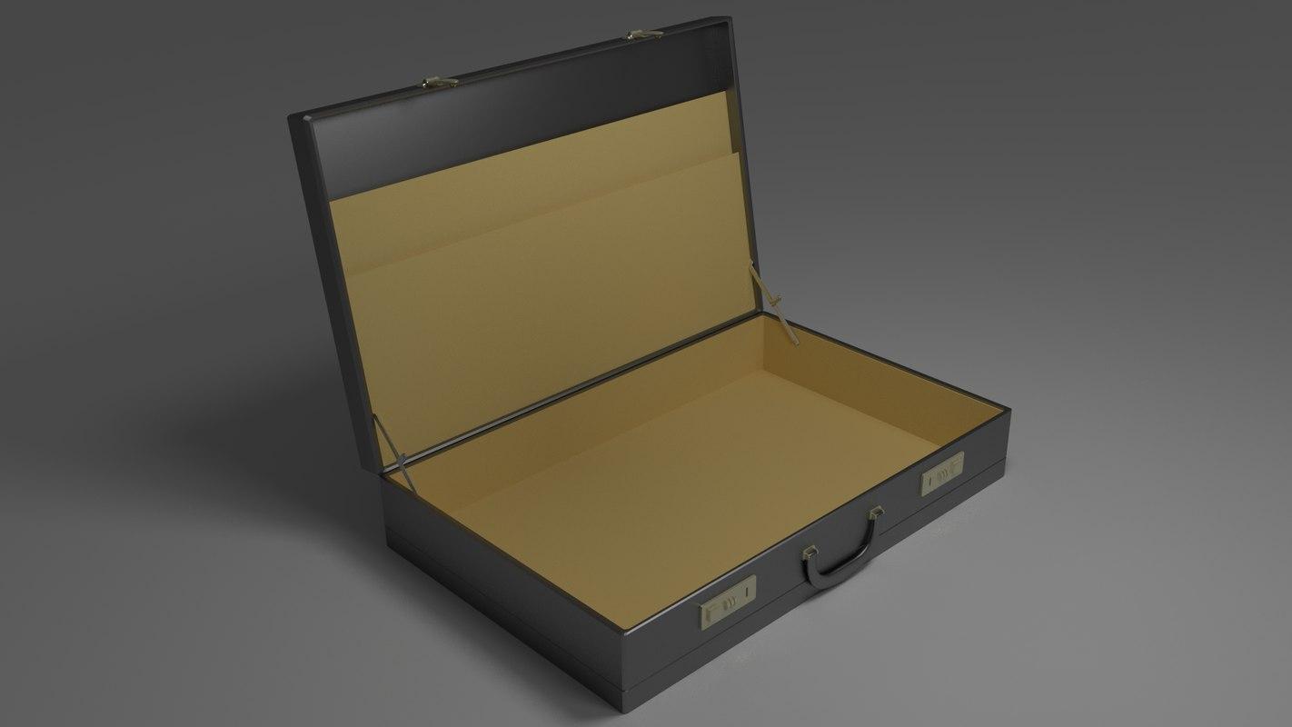 open briefcase obj