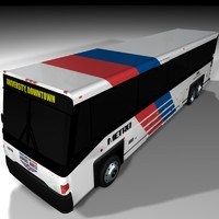 houston bus 3d c4d
