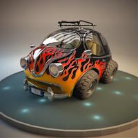 car cartoon toon 3d model