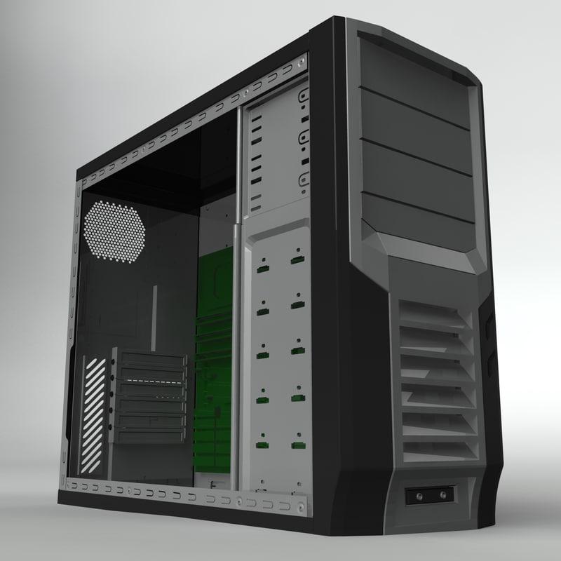 computer case 3d obj
