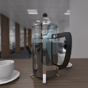 3d model of cafetiere coffee pot