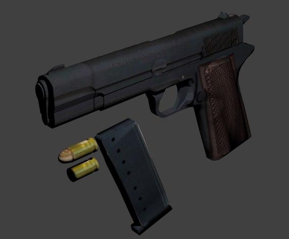 3d 45 pistol