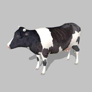 3d cow uv model
