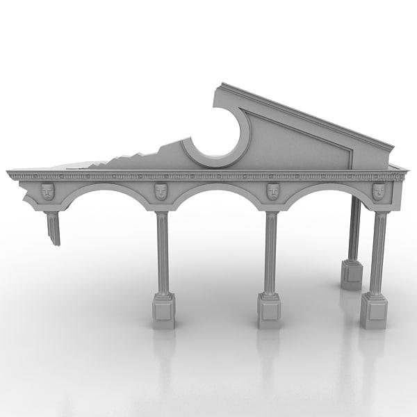 destroyed arch 3d model