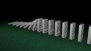 free set domino 3d model