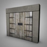 3d old medieval door