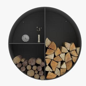 3d model shelfs firewood