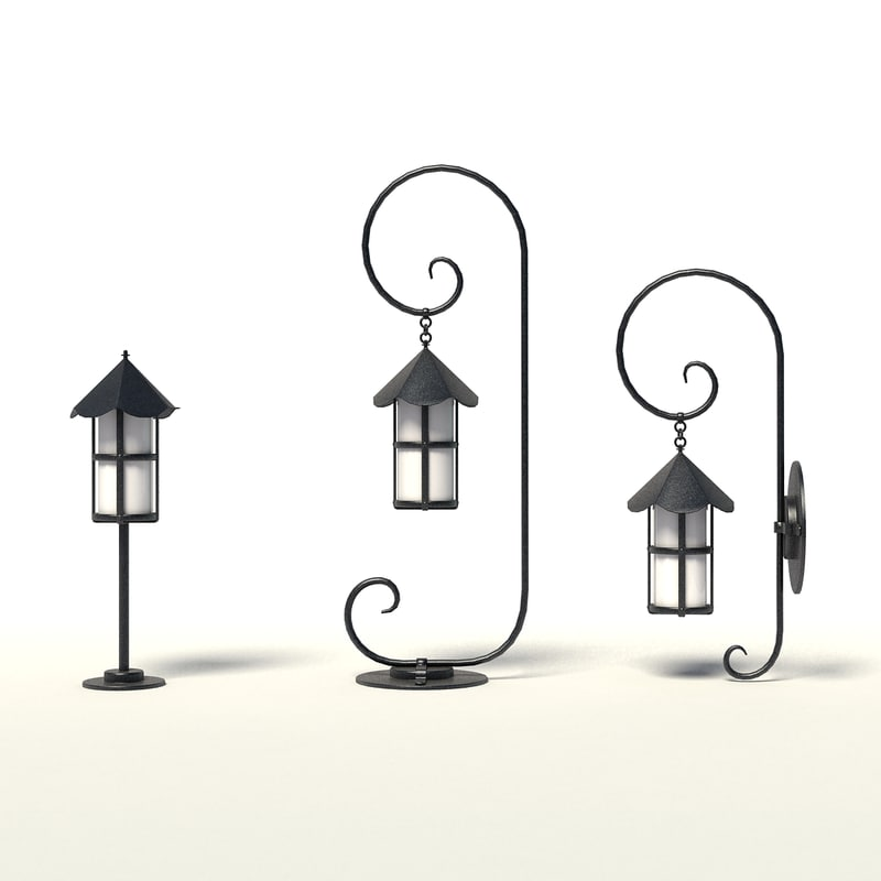 3d model lantern outdoor