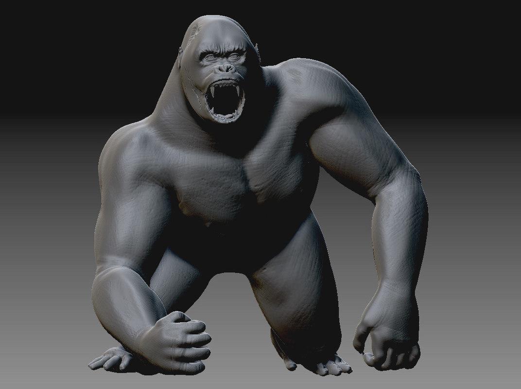 3ds max gorilla
