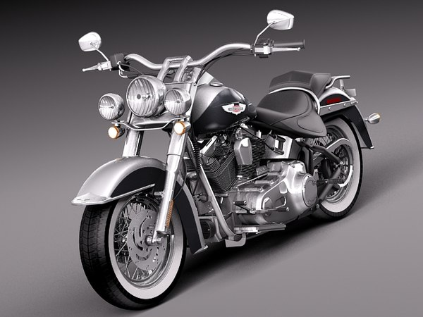 3d harley softail deluxe 2012