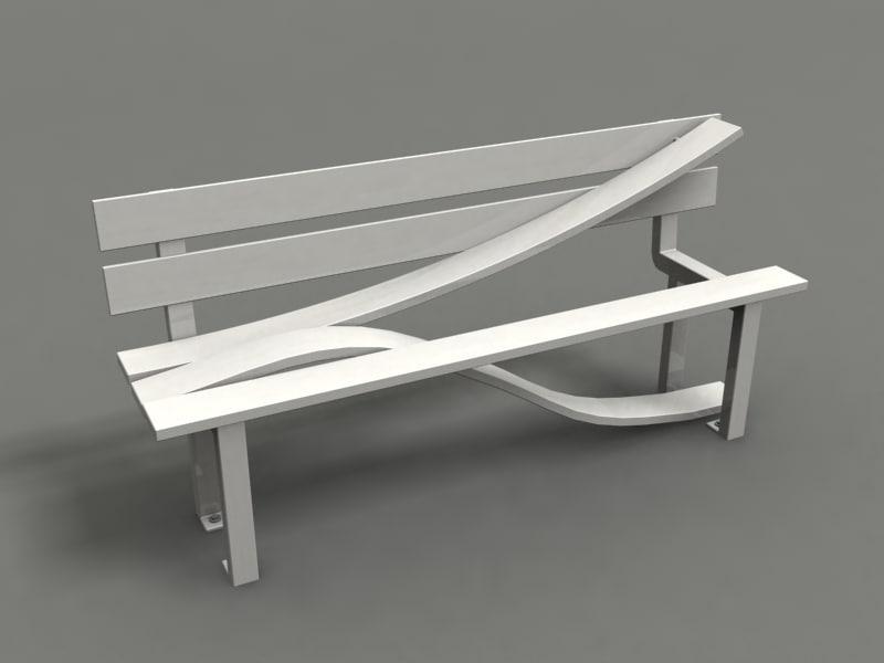 park chair strange benches obj