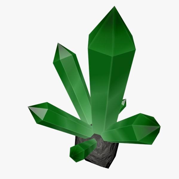 3d crystal rock model