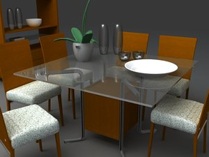 chair kitchen 3d obj