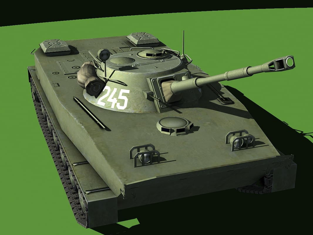 soviet amphibious tank 3d max