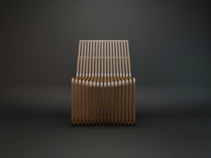 konstantin grcic chair 3d model