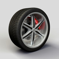 baccarat outrage rims tyre 3d model
