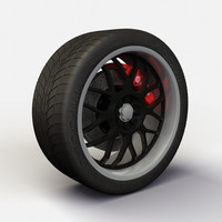 Wheel Akita Racing Ak-6 rim and tire