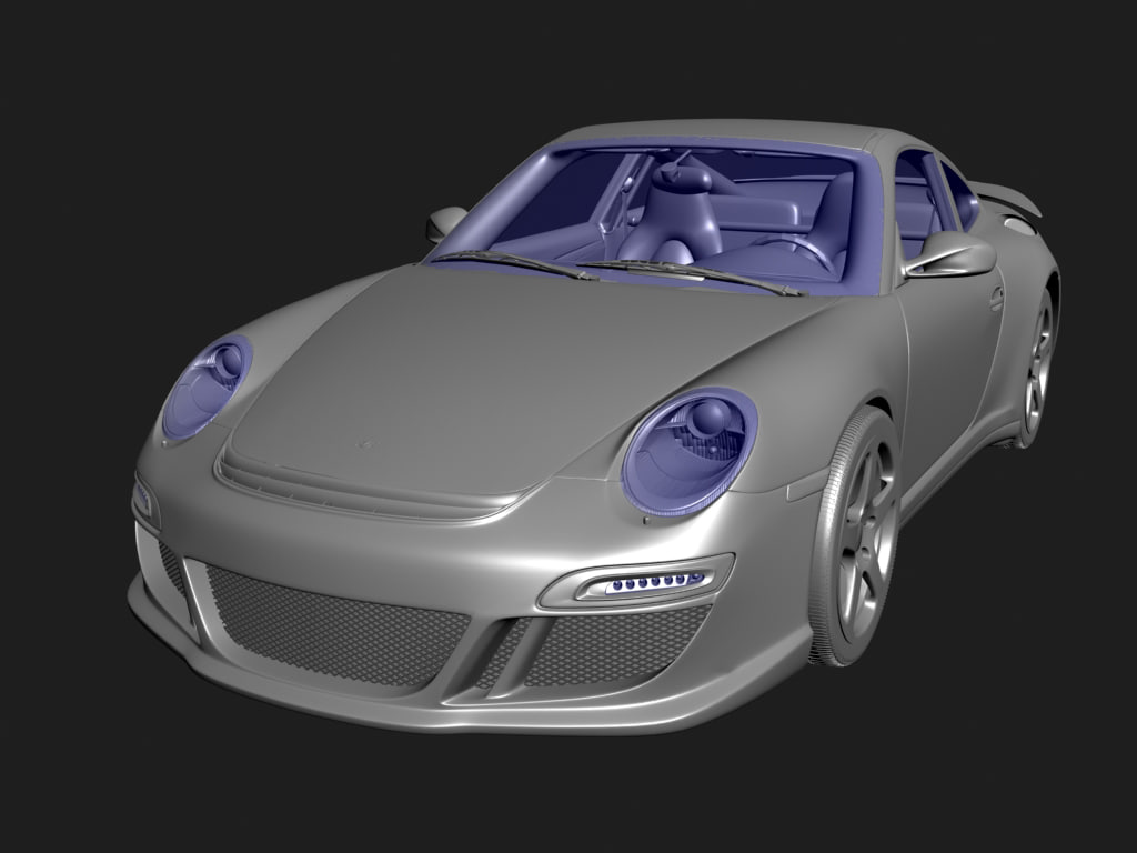 3d c4d ruf rt12s modeled
