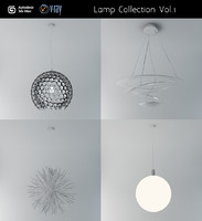 3d design ceiling lamps 1