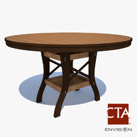wooden picnic table 3d model