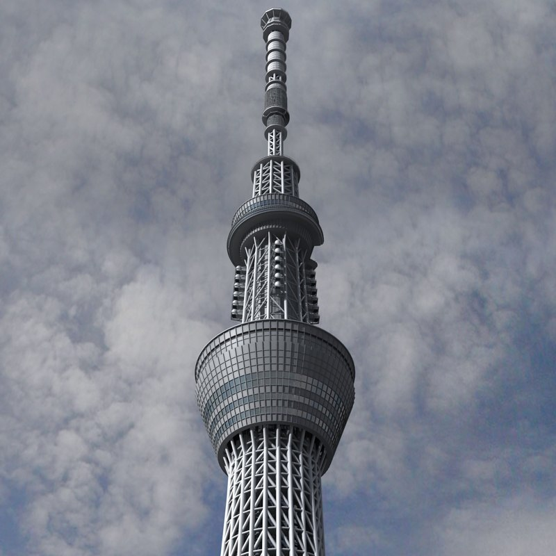tokyo skytree tower 3d 3ds