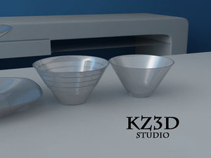 clear glass 3d model