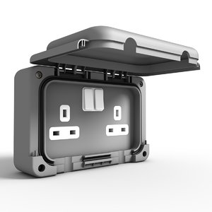 3d model outdoors electrical outlet