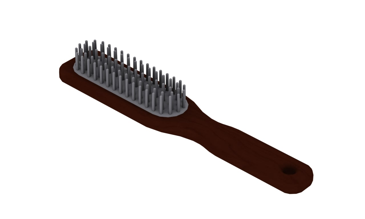hairbrush hair brush 3d model