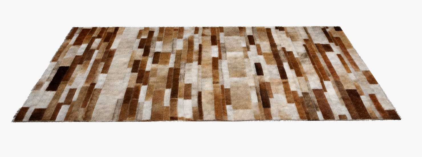 3d mucca rug