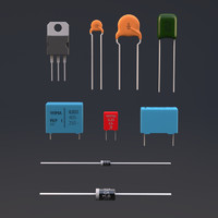 3d electronic components model