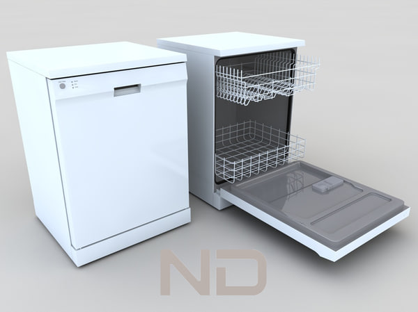 dishwasher dish washer 3d 3ds