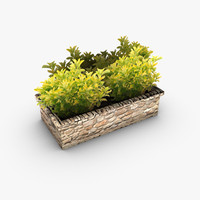 Low poly outdoor planter bed