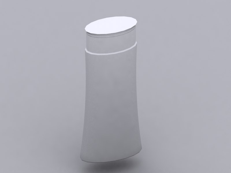 3d shampoo model