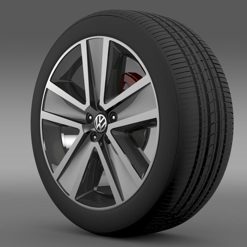 crosspolo 2011 wheel 3d model