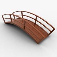 wooden bridge wood 3ds